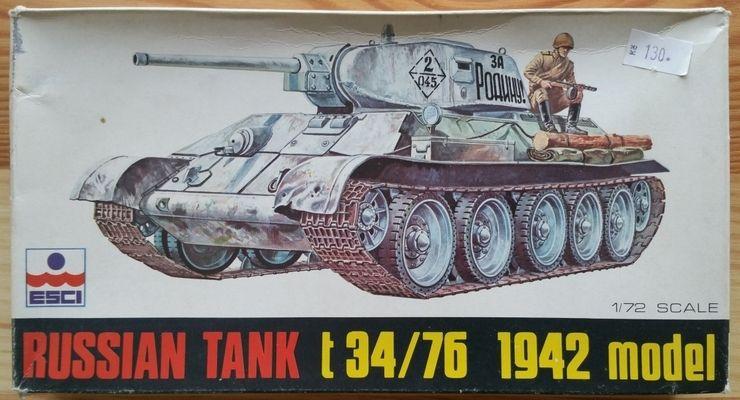 Russian Tank T 34/76 1943 model - Měřítko: 1/72 ESCI