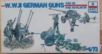 W.W.II Herman Guns Pak 35 + Pak 40 + Flak 38 - Měřítko: 1/72 ESCI