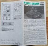 M-4(A3E8) Sherman - Měřítko: 1/72 HASEGAWA