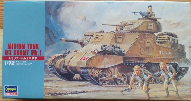 Medium Tank M3 Gramt Mk.I - Měřítko: 1/72 HASEGAWA