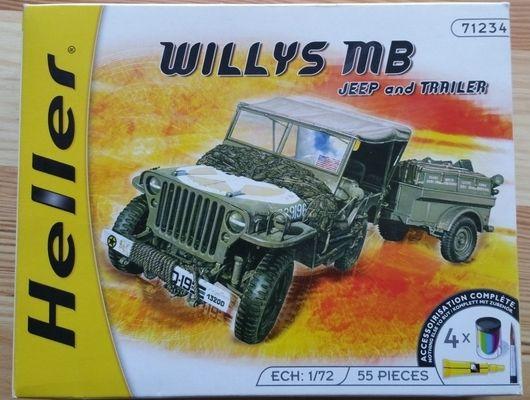Wyllis MB + trailer - Měřítko: 1/72 HELLER