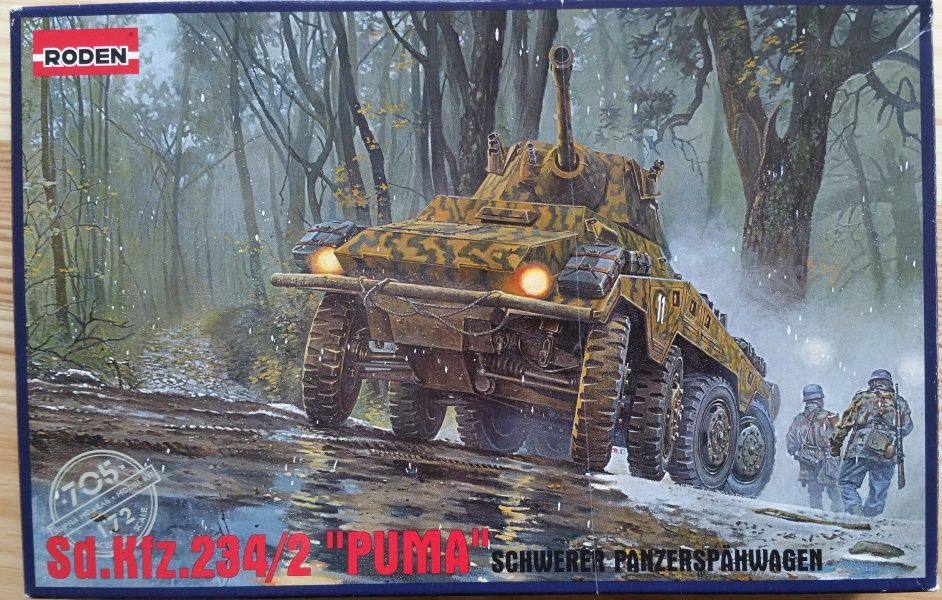 """Sd.Kfz.234/2 """"PUMA"""" - Měřítko: 1/72 RODEN"""