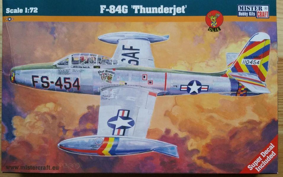 """F-84G """"Thunderjet"""" - Měřítko: 1/72 MISTER CRAFT"""