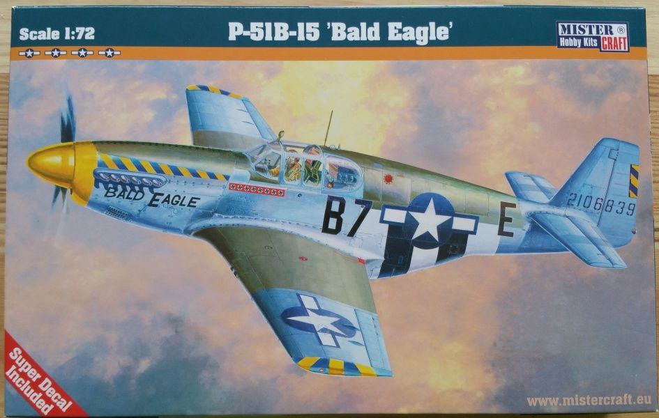 "P-51B-15 ""Bald Eagle"" - Měřítko: 1/72 MISTER CRAFT"
