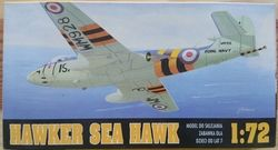 Hawker sea hawk - Měřítko: 1/72 CHEMATIC