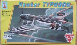 HAWKER TYPHOON - Měřítko: 1/72 DONETSKI ZAVOD IGRUŠEK