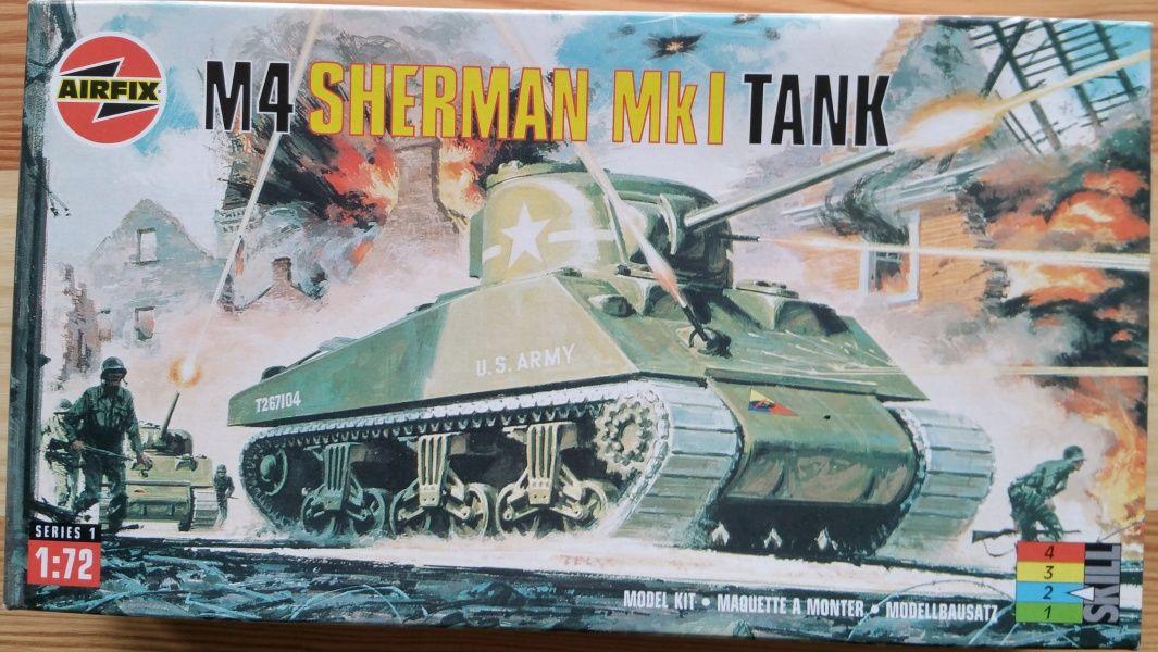 M4 Sherman Mk.I Tank - Měřítko: 1/72 AIRFIX