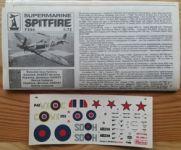 SPITFIRE Mk I. / Mk V. - Měřítko: 1/72 DONETSKI ZAVOD IGRUŠEK