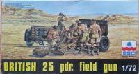 British 25 pdr. field gun - Měřítko: 1/72 ESCI