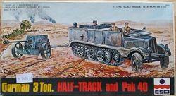 German 3 Ton, Half-track and PaK 40 - Měřítko: 1/72 ESCI
