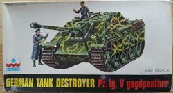German Tank Destroyer Pz.Jg,V Yagdpanther - Měřítko: 1/72 ESCI