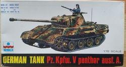 German Tank Pz.Kpfw.V Panther ausf. A. - Měřítko: 1/72 ESCI