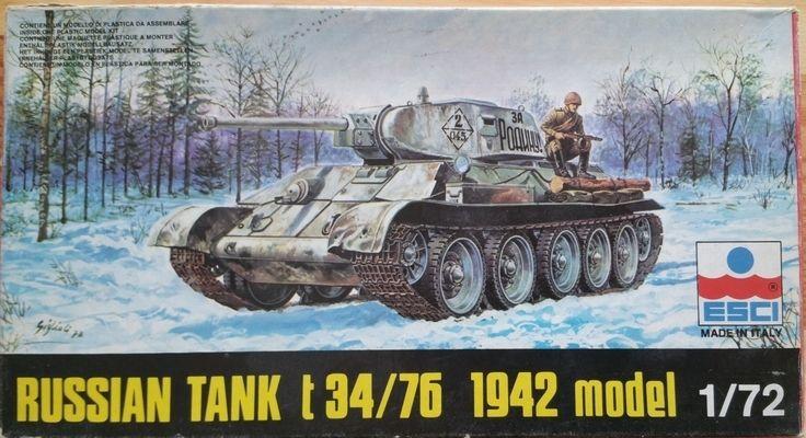 Russian Tank T 34/76 1942 model - Měřítko: 1/72 ESCI