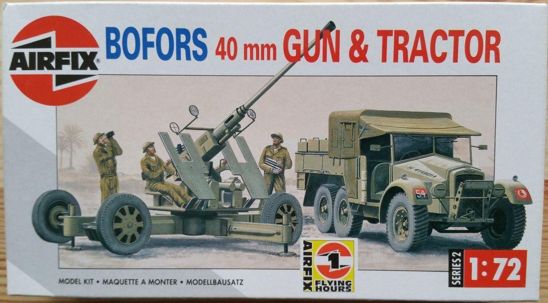 Bofors 40mm Gun + Tractor - Měřítko: 1/72 AIRFIX