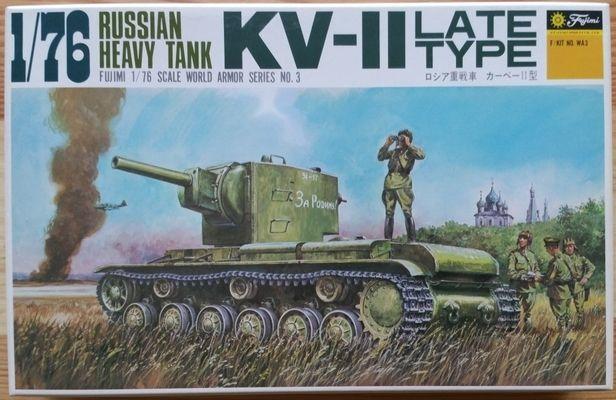 Russian Heavy Tank KV-II Late Type - Měřítko: 1/76 FUJIMI