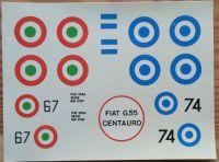 FIAT G. 55 _ Měřítko: 1/50. SMĚR