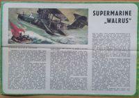 SUPERMARINE WALRUS - Měřítko: 1/50 SMĚR