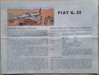 FIAT G. 55 - Měřítko: 1/50 SMĚR