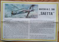 MACCHI M.C 200 SAETTA - Měřítko: 1/50 SMĚR