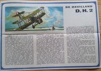 DE HAVILLAND D.H. 2 - Měřítko: 1/50 SMĚR