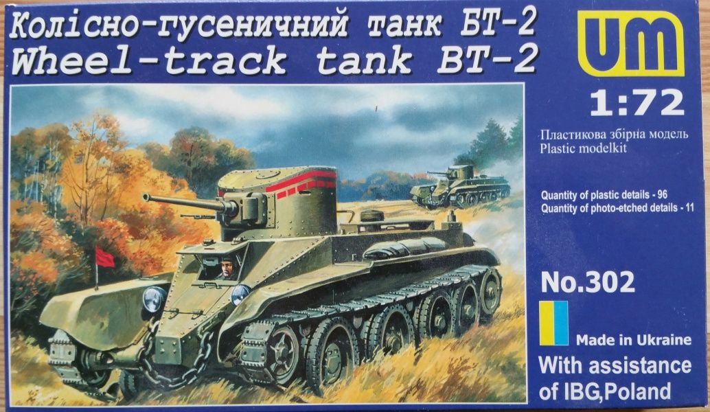 Wheel-track tank BT-2 - Měřítko: 1/72 UM
