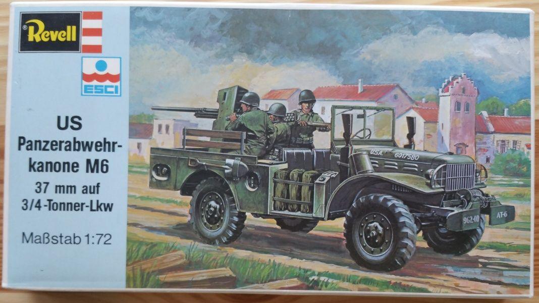 US Panzer kanone M6 + 3/4 Tonner-Lkw - Měřítko: 1/72 REVELL