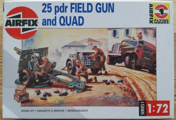 25 pdr FIELD GUN and QUAD - Měřítko: 1/72 AIRFIX