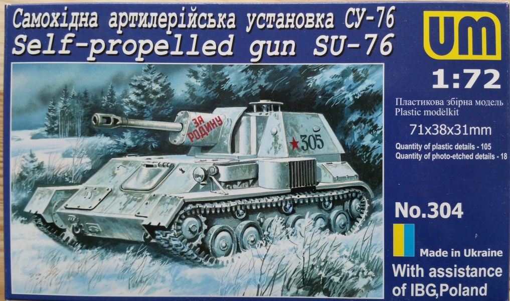 Self-propelled gun Su-76M - Měřítko: 1/72 UM