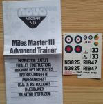 MILES MASTER ADVANCED TRAINER - Měřítko: 1/72 NOVO