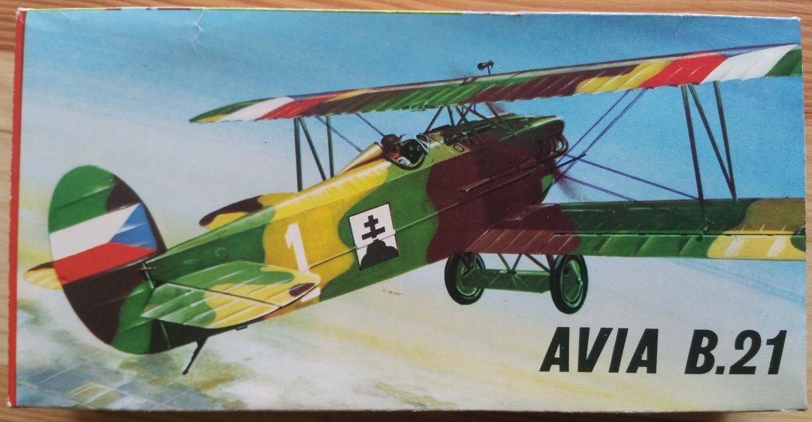 Avia B. 21 - Měřítko: 1/72 KOVOZÁVODY PROSTĚJOV
