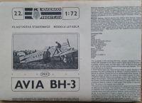 AVIA BH - 3 - Měřítko: 1/72 KOVOZÁVODY PROSTĚJOV
