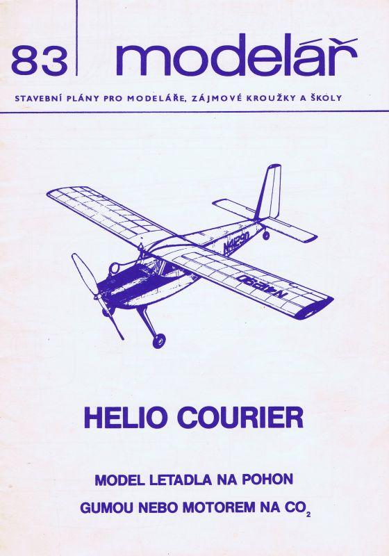 model letadla na pohon gumou nebo motorem CO2