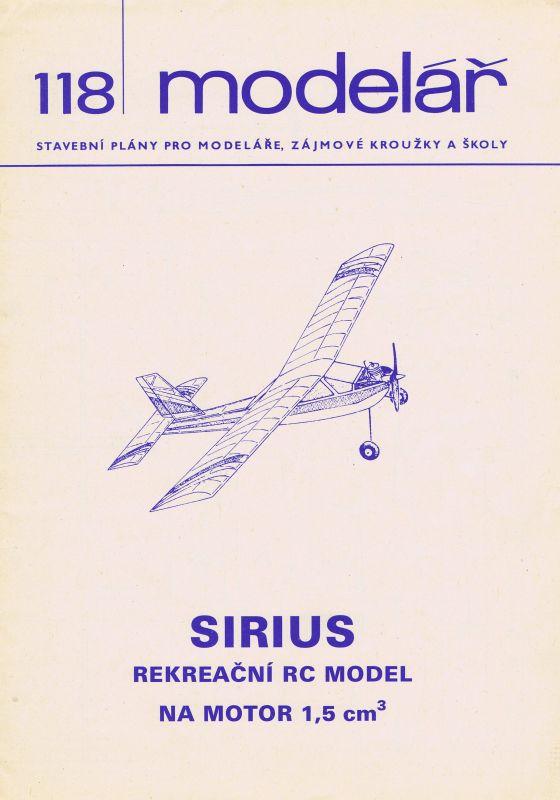 rekreační RC model na motor 1,5 ccm