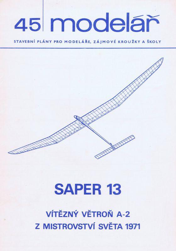 Vítězný větroň A2 z mistrovství světa 1971