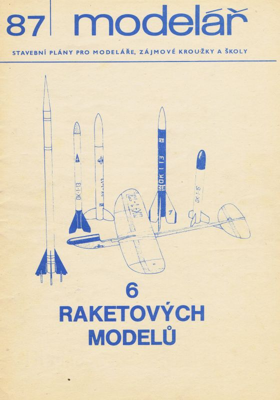87 6 raketových modelů