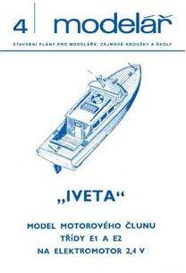 model motorového člunu třídy E1 a E2 na elektromotor 2,4 V