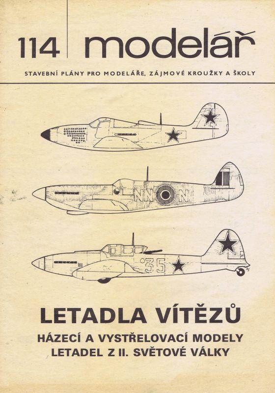 házecí a vystřelovací modely letadel z II. Světové války