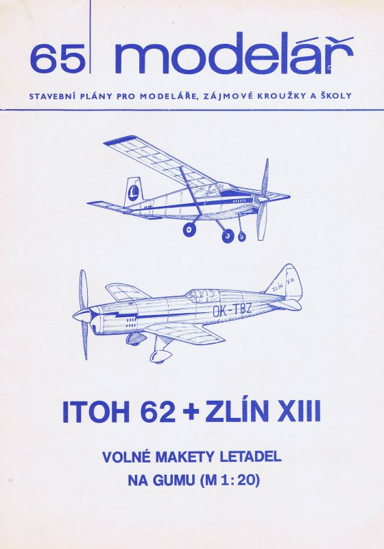 Volné makety letadel na gumu ( M 120)