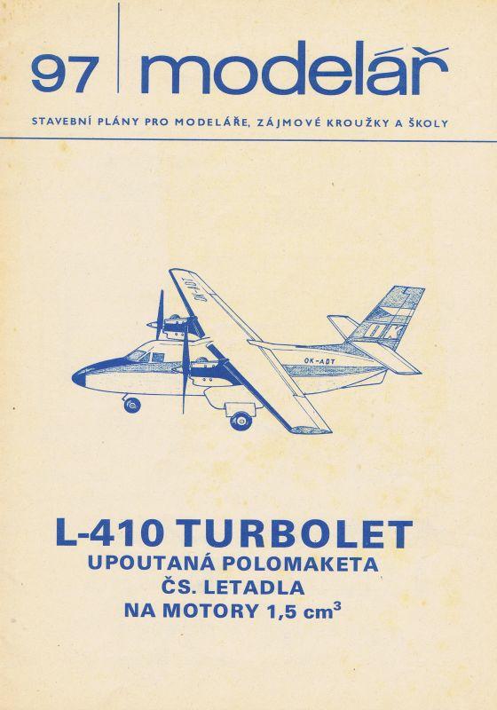 upoutaná polomaketa čs. letadla na motory 1,5 ccm