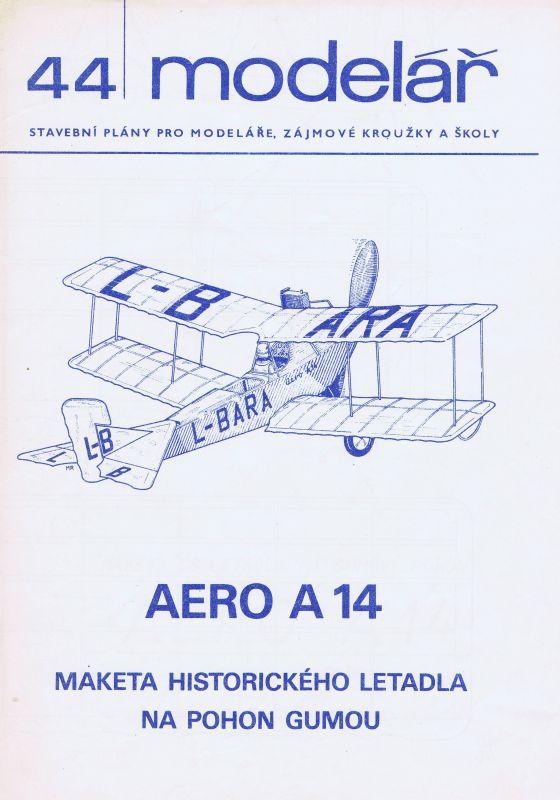 Maketa historického letadla na pohon gumou