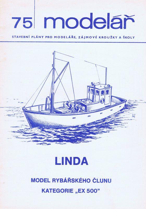 model rybářského člunu kategorie EX-500
