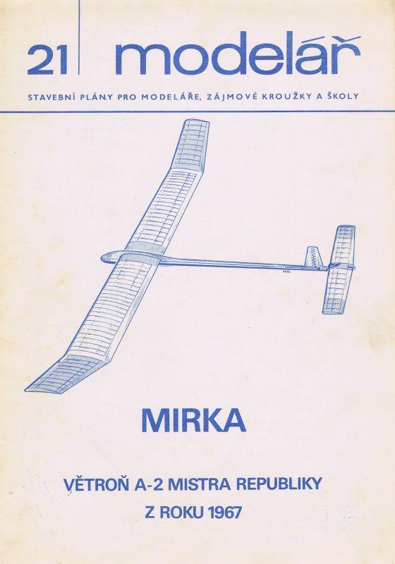 Větroň A2 mistra republiky z roku 1967