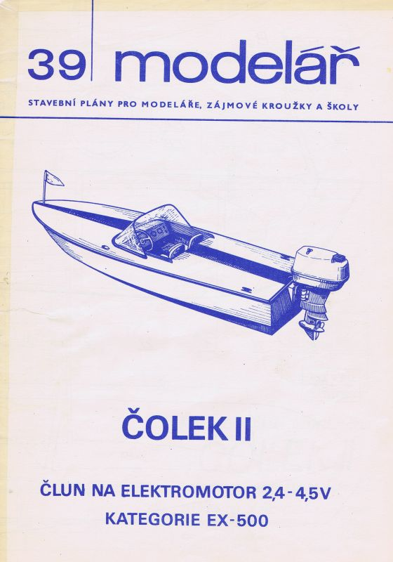 Člun na elektromotor 2,4 - 4,5 V kategorie EX-500