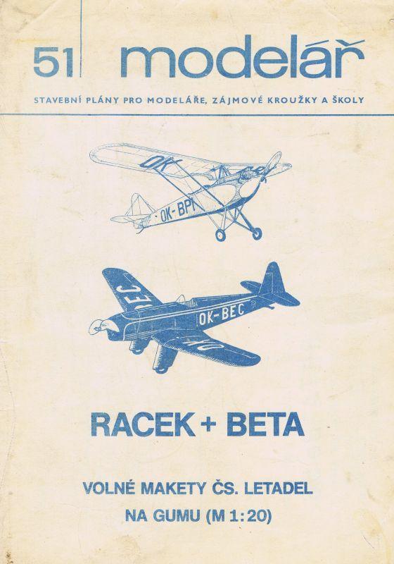 Volné makety čs. letadel na gumu (M 120)