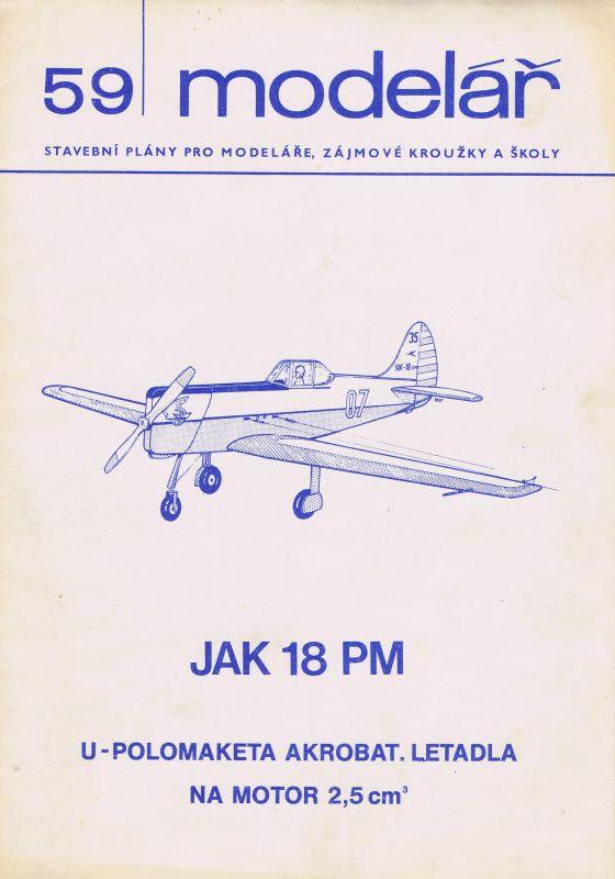 U-polomaketa akrobat. letadla na motor 2,5 ccm