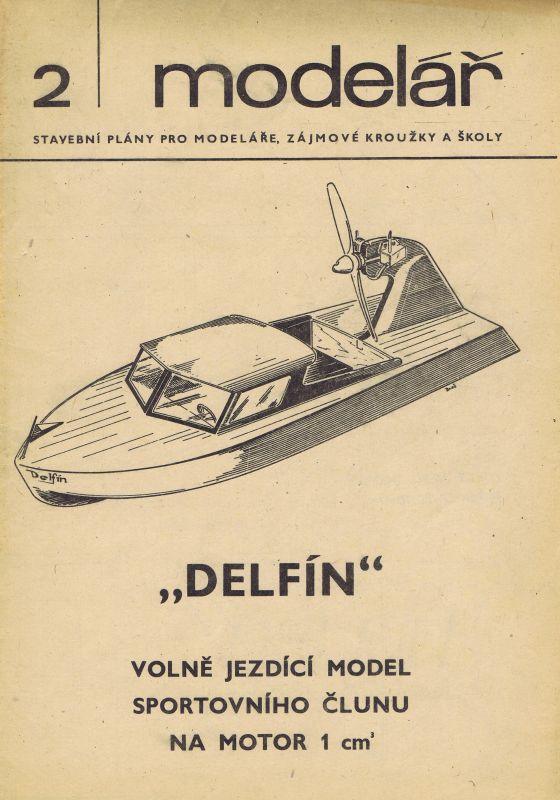 Volně jezdící model sportovního člunu na motor 1 ccm