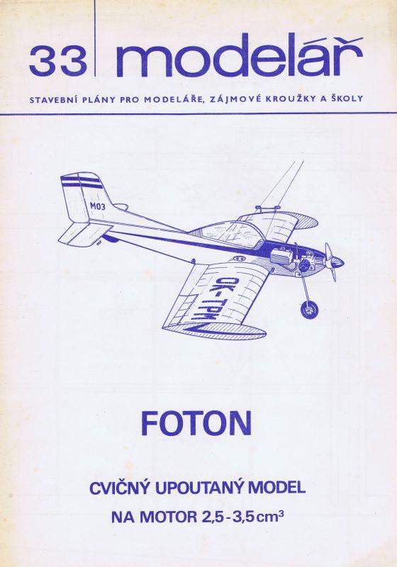 Cvičný upoutaný model na motor 2,5 - 3,5 ccm
