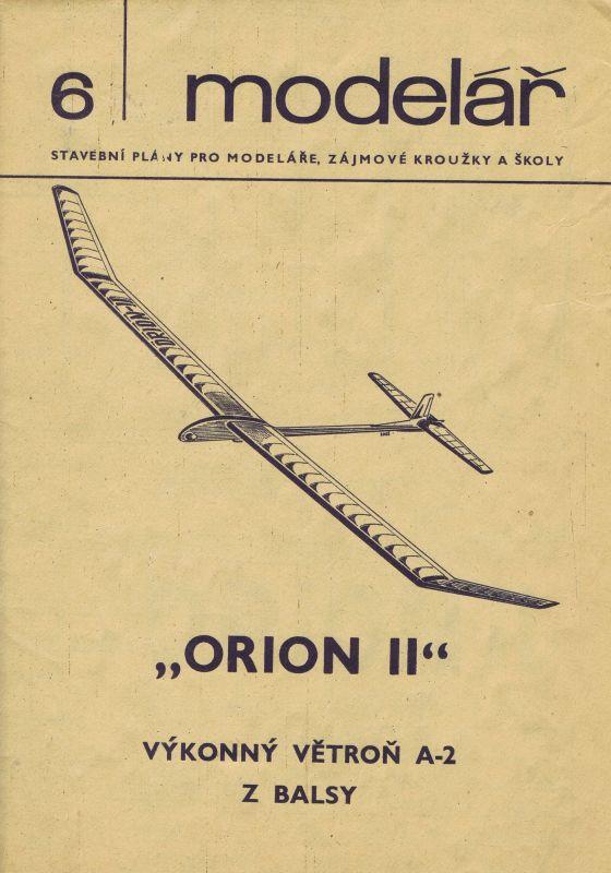 Výkonný větroň A-2 z balsy